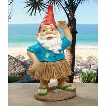 Hawaiian  Hank Grass Skirt Gnome Statue - $33.95