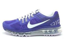 New Nike Kid's Air Max 2013 GS Purple Running Training Flex Shoes 5Y 6.5... - $94.99