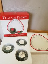 NEW NIB Fitz & Floyd Olive A Party Cocktail Serving Platter Tray, 3 Dip Dishes - $29.99