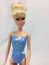 Barbie style Doll Mattel Ballerina Disney Cinderella Blue Painted Outfit - $3.47