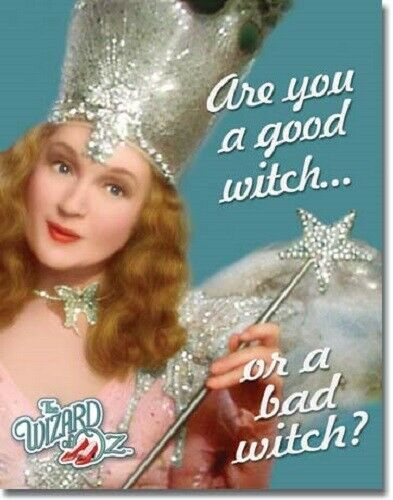 Primary image for New Wizard of Oz Good or Bad Witch Decorative Metal Tin Sign