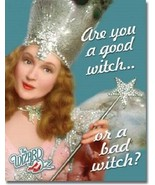New Wizard of Oz Good or Bad Witch Decorative Metal Tin Sign - $9.41