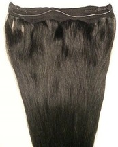 "18"" 20"" 100% Human Hair Extensions,100 Grams, Halo Style (ONE PIECE ) # 1 - $89.09+"
