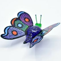 Handmade Alebrijes Oaxacan Wood Carving Folk Art Butterfly Bobble Head Figurine image 4