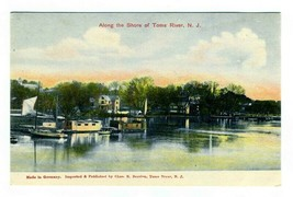 Along the Shore of Toms River New Jersey Postcard - $17.80