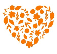Any Color Leaves Heart Season Fall Decor Autumn Decal Sticker for car cup - £4.31 GBP+