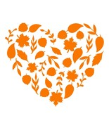 Any Color Leaves Heart Season Fall Decor Autumn Decal Sticker for car cup - $5.93+