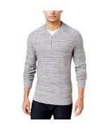Alfani Men's Regular Fit Baseball-Collar Sweater Grey X-Large - $34.65