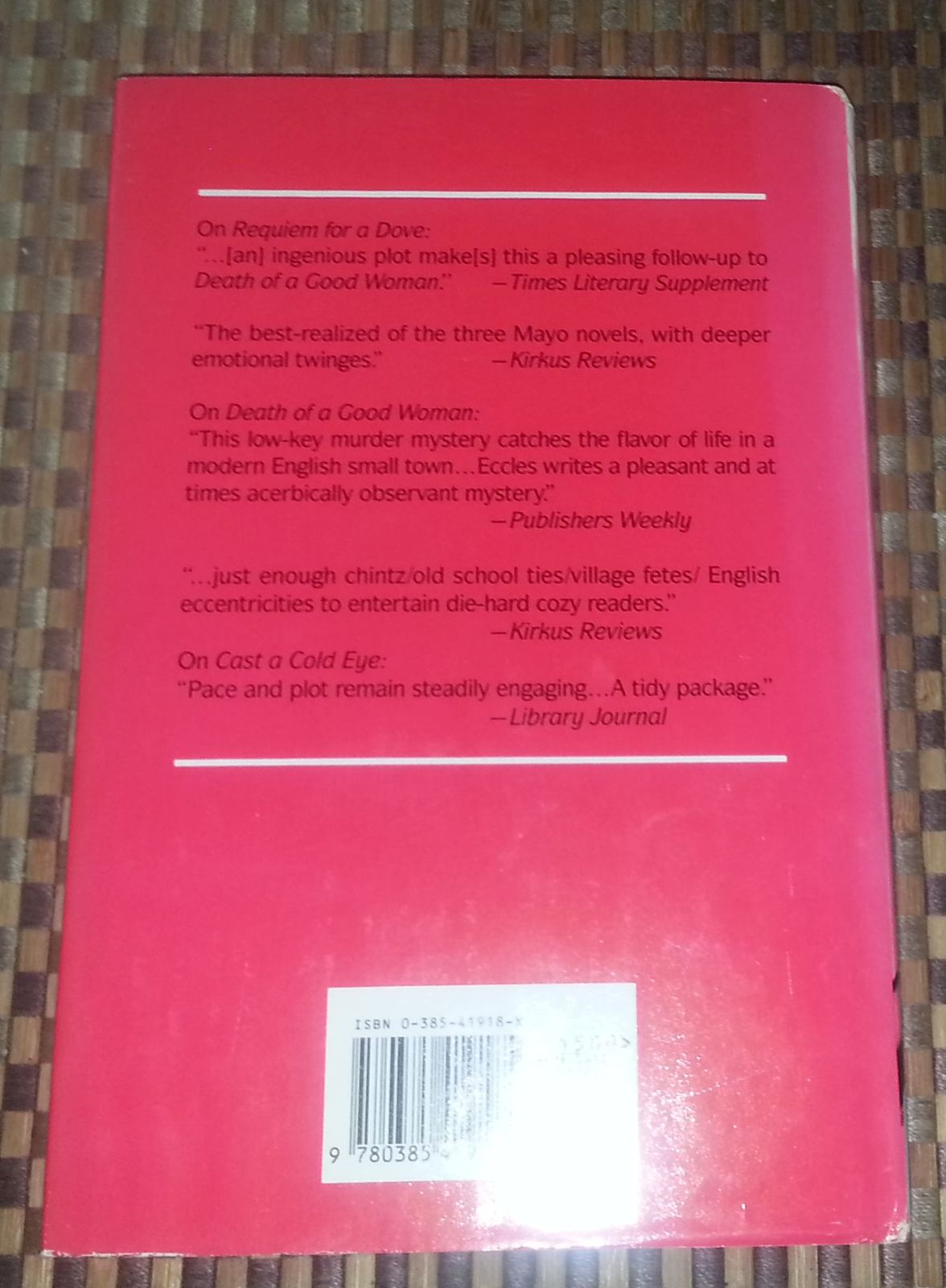 More Deaths Than One by Marjorie Eccles 1991 HBDJ Gil Mayo