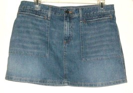 WOMEN'S BLUE JEAN POCKETS MINI SKIRT SIZE 8 - $7.00