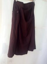 Women Long Wrap Skirt Summer Linen Cotton Skirt Elastic Waist Brown Black Gray image 4