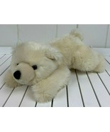 "Aurora World Polar Bear Cream Teddy Plush Toy Stuffed Animal Beanie 12"" ... - $24.70"