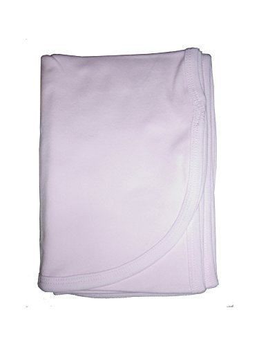 bambini Baby's Pink 100% Cotton Flannel Receiving Blanket - $10.99