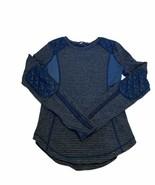 Lululemon Womens Long Sleeve Blue Running Shirt Size 4  - $34.64