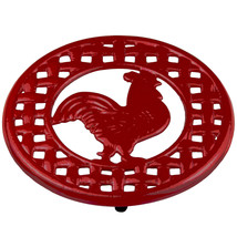 Home Basics Cast Iron Rooster Trivet Red - $18.61