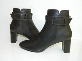 Aquatalia Boots Vanie Ankle Bootie Buckle Espresso Dark Brown Leather 39... - $246.51