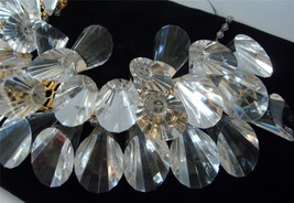 William DeLillo HUGE Statement Necklace Lucite Crystal Prisms Collar Choker - $494.01