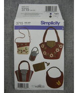 Washed felt Hand bags purses small cell phone purse Simplicity 3715  UC FF - $6.00