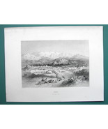 TURKEY City of Tarsus near Adana - 1854 Antique Print Engraving by BARTLETT - $22.46