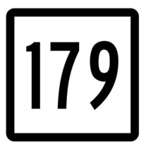 Connecticut State Highway 179 Sticker Decal R5189 Highway Route Sign - $1.45+