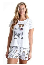 Dog Jack russell terrier pajama set with shorts for women - $30.00