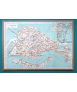 "ITALY Venice City Plan - 1931 BAEDEKER MAP 10 x 14 ""  24.5 x 35 cm - $21.60"