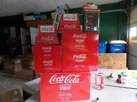 Department 56 Snow Village Coca Cola Bldg,Delivery, Billboards, Signs, Benches - $144.38