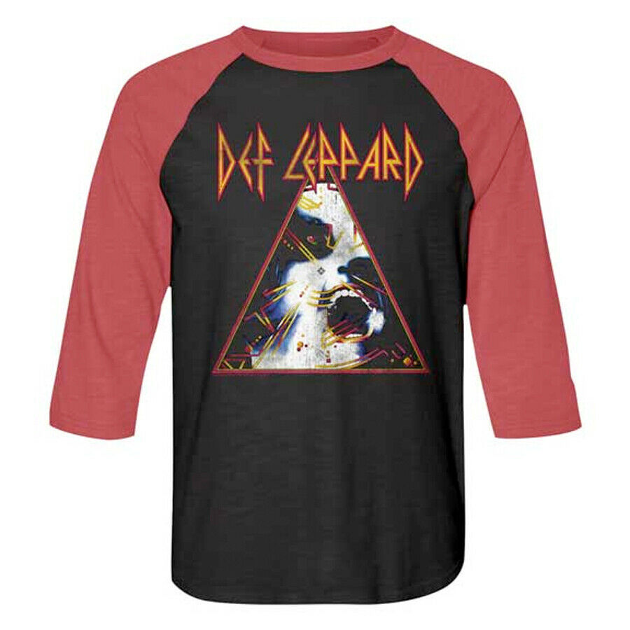 Primary image for Def Leppard-Hysteria-Large Tri-Blend Raglan Baseball Jersey T-shirt