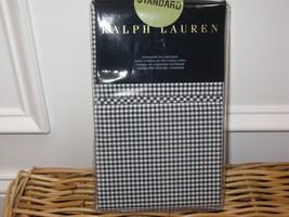 Ralph Lauren CLASSIC GINGHAM Polo Navy Standard Pillowcases - $47.45