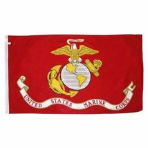 Usmc United State Marine Corps Flag 3 X 5 Semper Fi Fidelis With Brass Grommets - $18.00