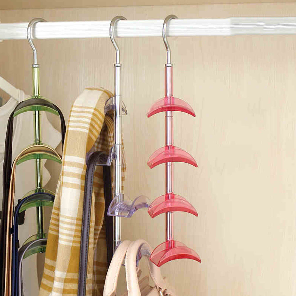 Handbag Hanger Shelf Organizer Bag Storage 4 Hooks Holder Hanging Rack