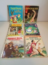 Little Golden Book Lot Bugs Bunny, Dinosaurs, Brave Tailor, Alice, Bible... - £15.25 GBP