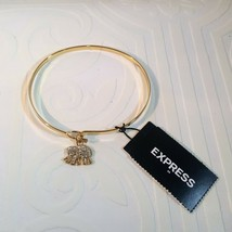 EXPRESS GOLD PLATED ELEPHANT RHINESTONE CUFF BRACELET  - $10.00