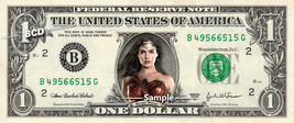 WONDER WOMAN on a REAL Dollar Bill Gal Gadot Cash Money Collectible Memo... - $8.88