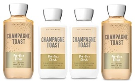 Bath & Body Works Champagne Toast Shower Gel & Body Lotion - 4 Piece Set - $28.50