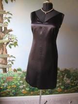 Gap Midnight Black Sleeveless Satin Evening Dress Size 6 New - $39.55