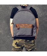 Sale, Canvas With Leather Backpack, Travel Backpack, School Backpack - $130.00