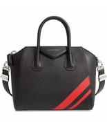NWT Givenchy black/red sugar leather small Antigona bag; Rtl $2490 - $1,680.54