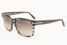 Tom Ford Barbara Striped Green / Gray Gradient Sunglasses TF376 98K 58mm - €122,93 EUR