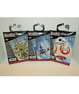 3 MicroKite Mini Mylar Kites Star Wars BB-8 Millennium Falcon X-Wing Fig... - $17.81