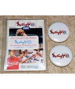 1991 Coca-Cola Don Mattingly Restaurant Card set of 15 with 2 Buttons - $5.87