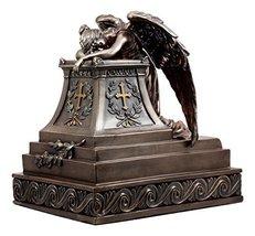 "Ebros Bronzed Inspirational Guardian Mourning Angel Cremation Urn Statue 12.75""  - $159.99"