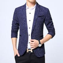 Men Suit Formal Slim Fit Long Sleeve Jacket Business One Button Blazer T... - $45.29+