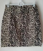 Leopard Mini Pencil Skirt Womens Size S Small Animal Print Twenty One 21 - $9.75