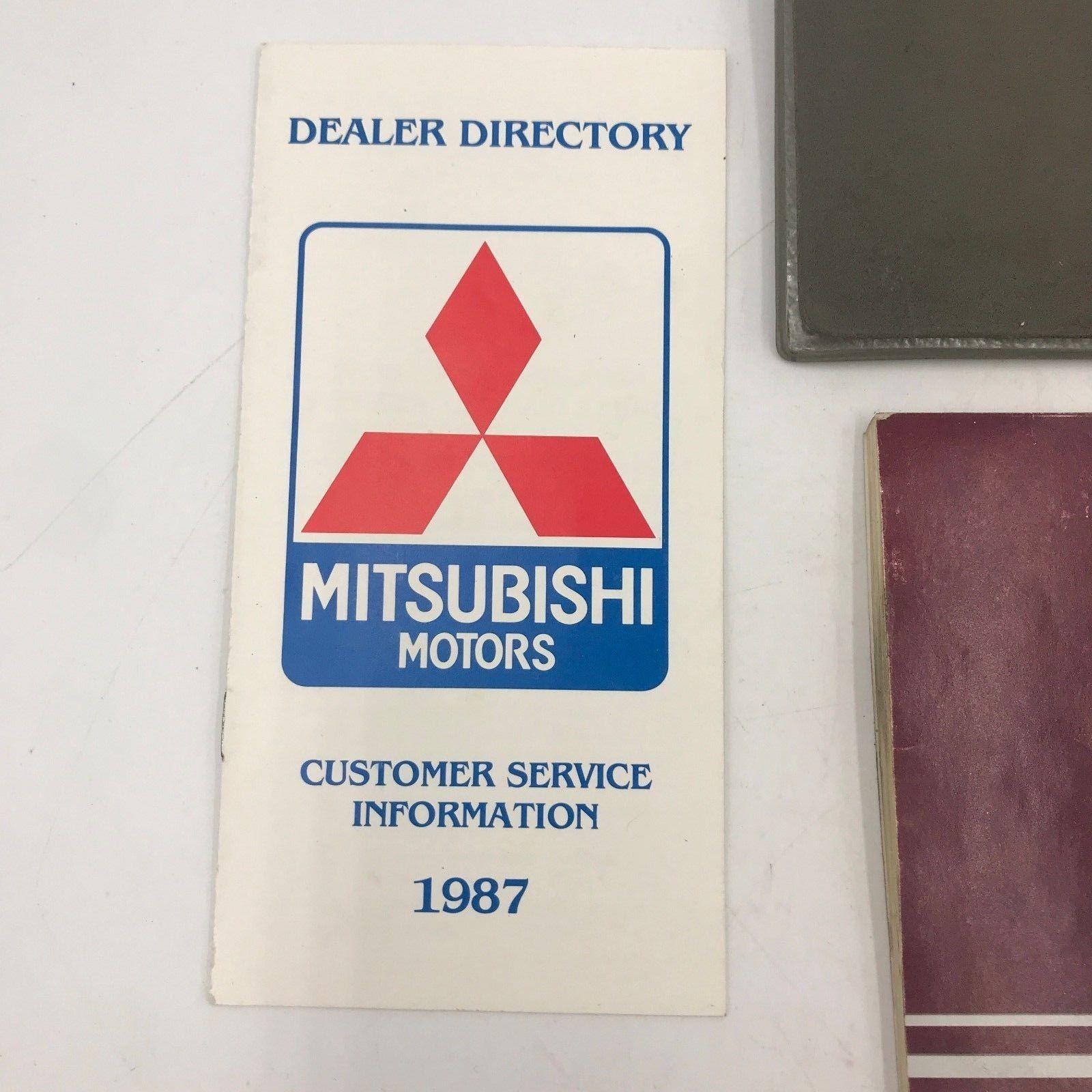 1986 Mitsubishi Galant Original Owners Manual Guide in Sleeve Glove Box Book BK1