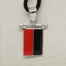 SOLID 925 STERLING SILVER PENDANT WITH NAUTICAL FLAG, LETTER E, ENAMEL, CHARM image 1