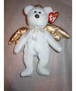 Ty Beanie Baby Halo II 2000 Gold Winged Bear Retired Mint  - $7.99