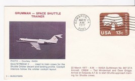GRUMMAN GULFSTREAM II SPACE SHUTTLE TRAINER EDWARDS, CA 3/22/1977 3-MUSC... - $1.98