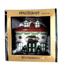 New Pfaltzgraff Winterberry Large 2001 House Bell Ornament 109-975-00 Co... - $15.88