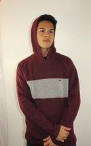Vans Off The Wall Men's Pullover Hoodie Burgundy/Grey Cotton/Polyester S... - $46.74